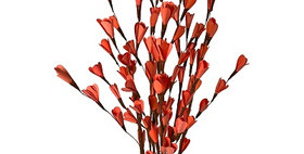 41106 6 Stem Tangerine Palm Lili Flower Branches