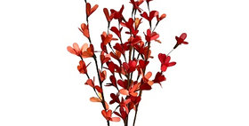 41189 Palm Lily Drop-in Bouquet-Orange & Burnt Red