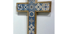 79012 Small Azulejos Wall Cross