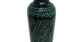 52021 Medium Tecumseh Vase-Turquoise/Black