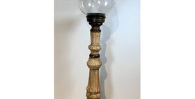 60082 Large Hurricane Candle Stand with Globe