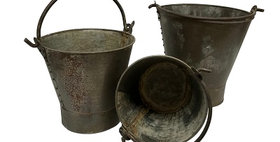 78010 Set of 3 Vintage Drop-Handled Buckets