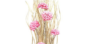 41148 PALM MAG WITH PINK FLOWERS DROP-IN BOUQUET