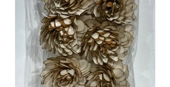 41171 6 pc Sliced Almond Flower Heads