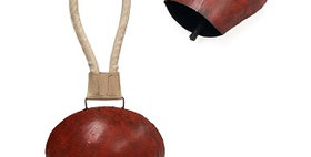 62018 Hindi Cowbell - Antique Red