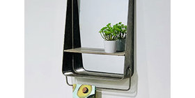 10446 Mid Century Home Large Vanity Mirror Shelf with To