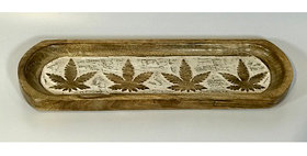 60059 Cannabis Design Long Oval Tray