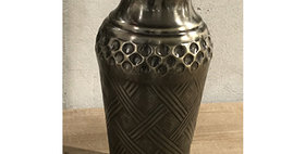 52003 Small Cross Weave Vase-Ant Nckl