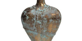 65004 Caribbean Copper Teardrop Vase