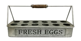 10226 1 DOZ Galvanizd Egg Carrier