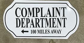 64020 Complaint Department Sign