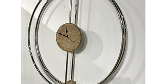 71023 Orbit Wall Clock - Chrome