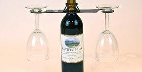 86647 Eiffle Tower Swirl Wine Glass Holder-Natural-26647