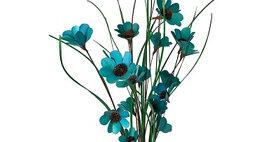 41100 6 Stem Teal Blue Poppy