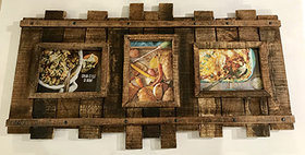 72017 Reclaimed Wood Multi Frame with Metal Pins