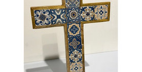 79011 Small Azulejos Table Cross