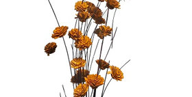 41034 24 Stem Ting Zinnia Flower Branches - Tangerine