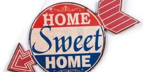 695589 Home Sweet...  Wall Metal