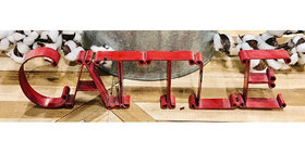 10156 CATTLE Cutout Sign-Distressed Red-23132