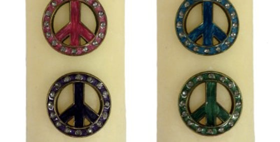 693855 CANDLE PIN 4 ASST PEACE SIGN