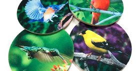 99792 Set of 4 Song Birds MW Coasters