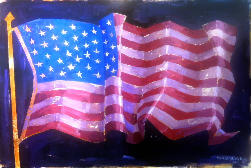 Marquis flag live_painting_med_vonbuskirk