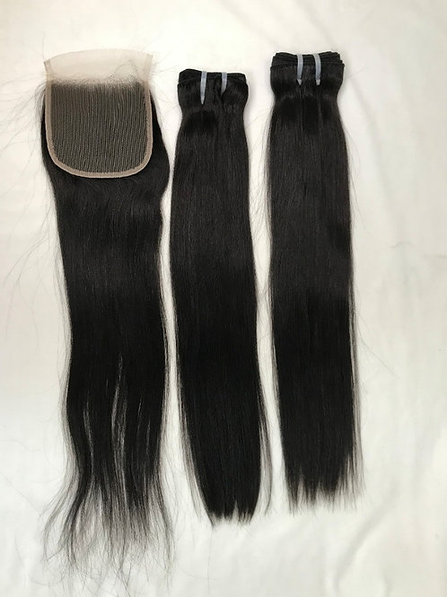 Raw Cambodian Straight Closure