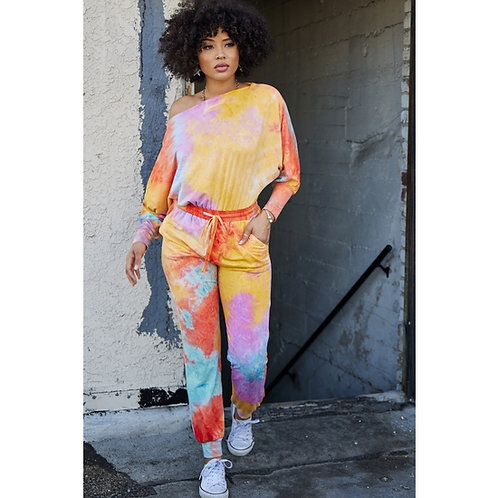 Tie-dye French Terry Jumpsuit