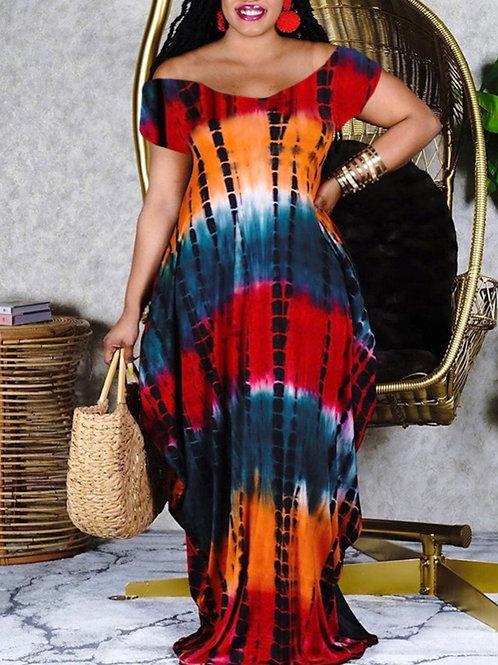 Boho Tie-dye Maxi Dress