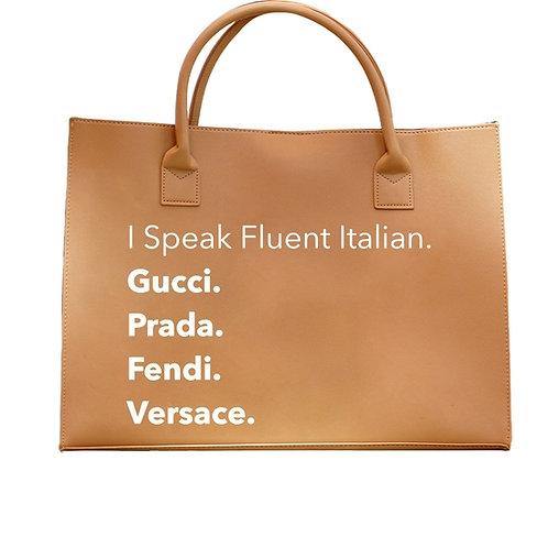 Modern Vegan Tote - Fluent Italian