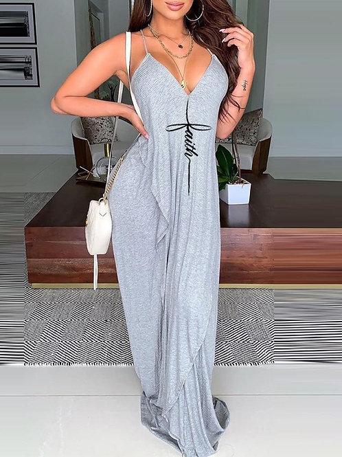 Faith Backless Cami Maxi Dress
