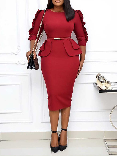 Nothing But Business Belted Dress