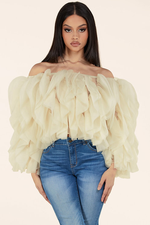 Ivory Tulle Top