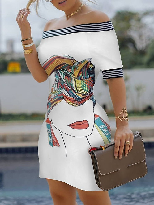 Girl Power Off Shoulder Bodycon Dress