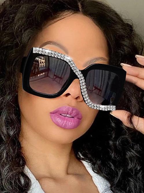 Diamond Oversized Square Sunglasses