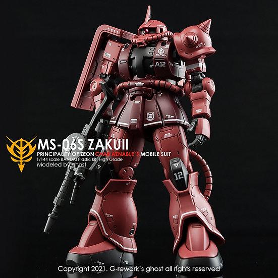 [HG] ORIGIN MS-06S JAKUII ( CHAR AZNABLE)