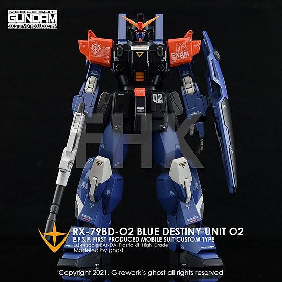 [HG] RX-79 BD-02 [BLUE DESTINY]