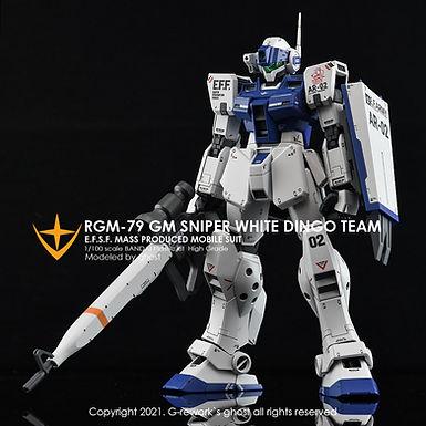 [MG] RGM-79SP GM SNIPERII [ WHITE DINGO ]