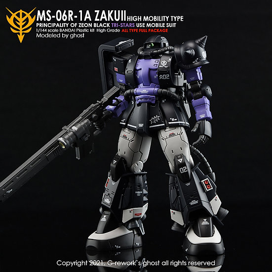 [HG] ORIGIN MS-06R-1A JAKUII ( BLACK TRI-STARS FULL SET)