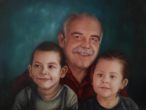 Uncle with Grandchildren