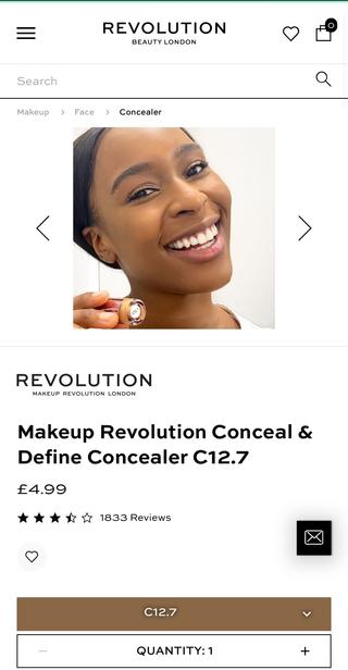 Revolution beauty makeuop revolution.HEI