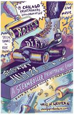 Roller Derby: Steamroller Event poster, 2018