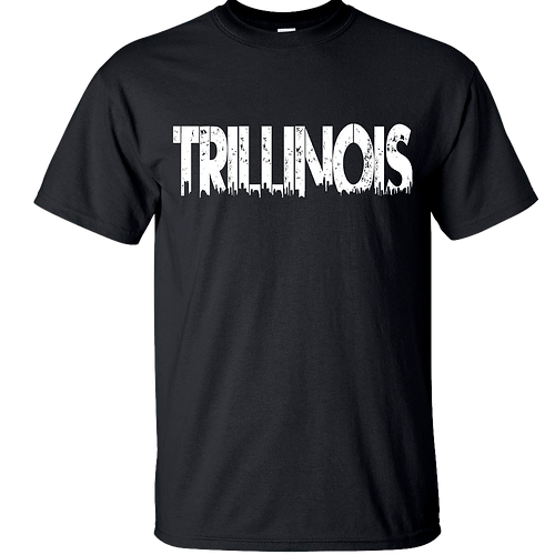 trillinois-clothing | Trillinois Black T-Shirt White print