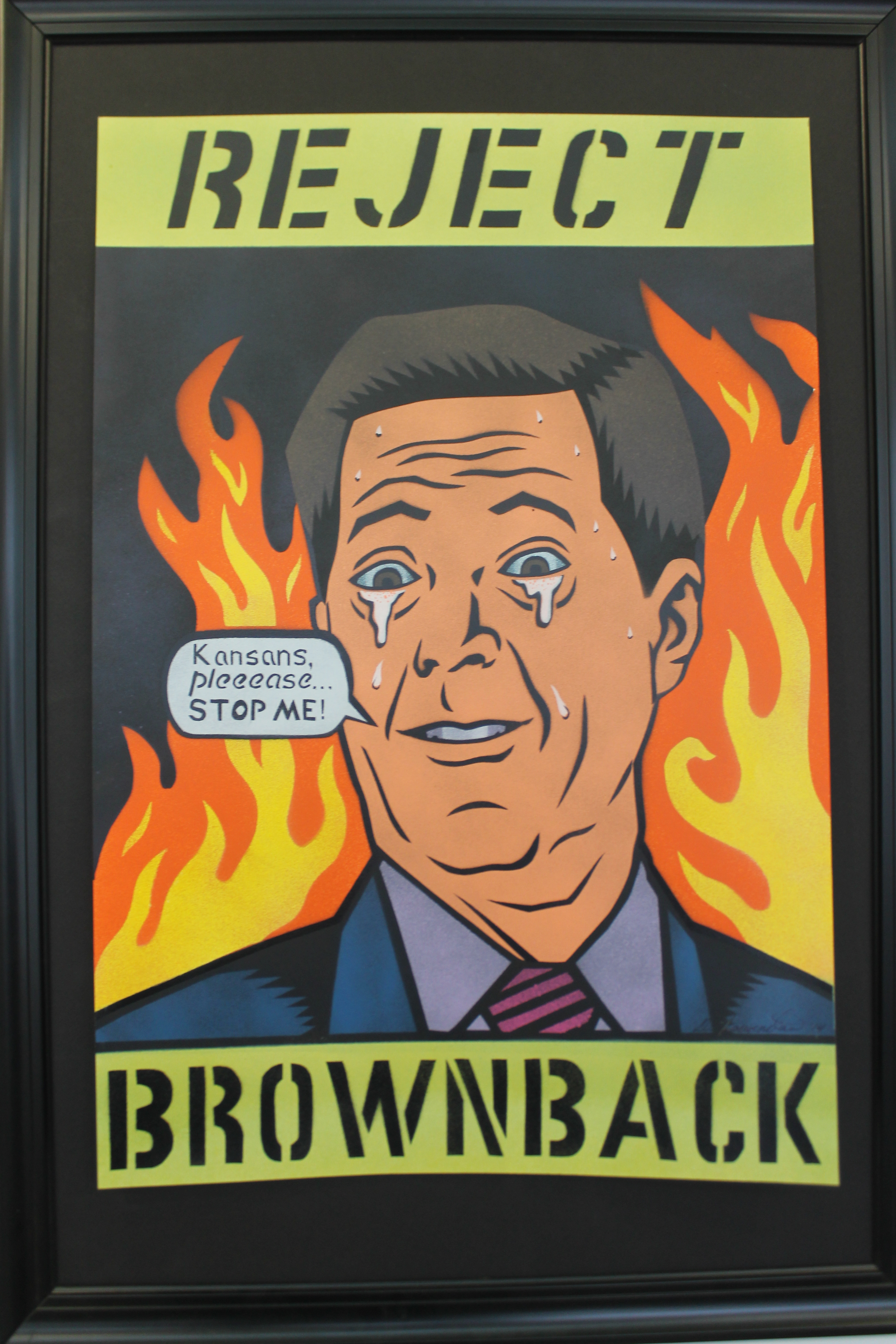 Reject Brownback by Dave Loewenstein