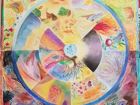 Mandala des cœurs étoilés