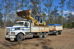 Glens's truck and loader