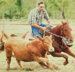Glen riding Redman