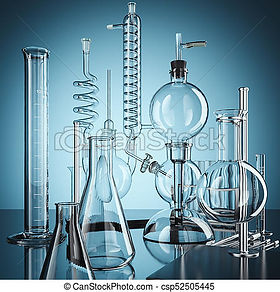 glass-chemistry-lab-equipment-3d-drawing