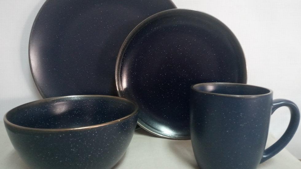 Set azul marino gratinado (4 piezas)