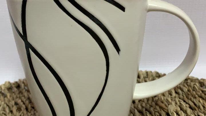 Tazón blanco lineas